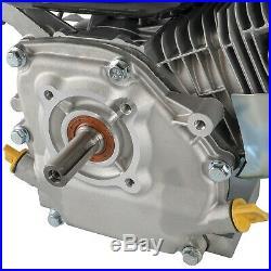 New 7.5 HP Gas Engine Motor Recoil Start Horizontal Pull Start Side Shaft