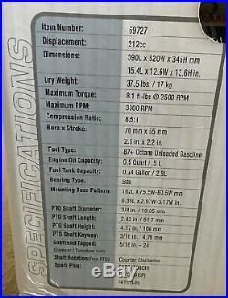 New Sealed Box Predator Engines 212cc OHV Horizontal Shaft Gas Engine 3800 RPM