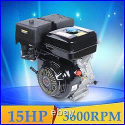 OHV 420CC 4-Stroke Gas Motor/Engine Recoil Start 15HP Horizontal Shaft