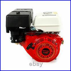 Petrol Engine Gas Motor 420CC 15HP 4Stroke OHV Single Cylinder 25mm Keyway Shaft