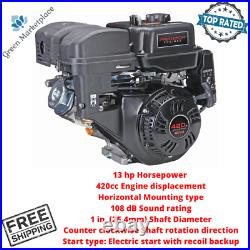 Predator 420cc Horizontal Shaft Gas Engine Replacement For 13 HP Gasoline Engine