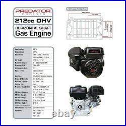 Predator 6.5hp Horizontal Shaft Gas Engine