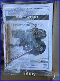 Predator Engines 60363 212cc OHV Horizontal Shaft Gas Engine New In Box Opened