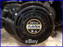 Raven Horizontal Gas Engine 9.0 HP 301cc OHV Electric Start Keyed Straight Shaft