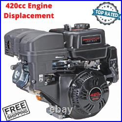 Replacement Gas Engine 13 HP 420cc OHV Horizontal Shaft For Gasoline Engines EPA