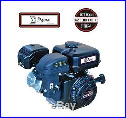 Sigma 6.5 HP 212CC OHV Horizontal Shaft Gas Engine MiniBike Go Cart Snowblower