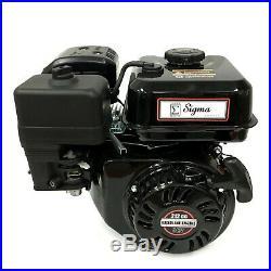 Sigma 6.5 HP 212cc OHV Horizontal Shaft Gas Engine For Pressure Washer Tillers