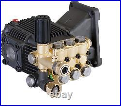 Triplex High Pressure Power Washer Pump 4.7 GPM 3600 PSI 1 Hollow Shaft