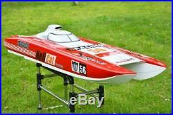 US Stock Red G30E RC Racing Boat ARTR Gas 30CC Engine Shaft System FiberGlass