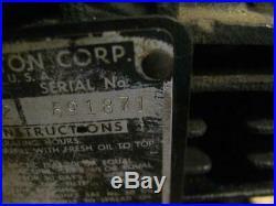 Vintage 1951 Rope Start Cast Iron Briggs Stratton Horizontal Shaft 5S Gas Engine