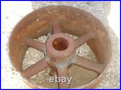 Vintage Antique Cast Iron 16 Flat Belt Pulley Line Shaft Gas Hit Miss Engine