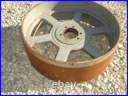 Vintage Antique Cast Iron 18 Flat Belt Pulley Line Shaft Gas Hit Miss Engine
