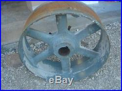 Vintage Antique Cast Iron 20 Flat Belt Pulley Line Shaft Gas Hit Miss Engine