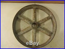 Vintage Antique Cast Iron 20 Flat Belt Pulley Line Shaft Gas Hit Miss Engine 4