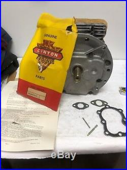 Vintage Rare Clinton 4 Cycle Short Block Vertical Shaft 149-494 Dated 1961
