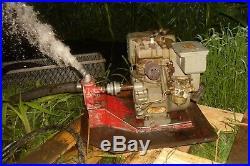 Vtg CLINTON 3.5 HP Gas Engine 404 0100 Horizontal Shaft L R H Labaw Pump Go Kart